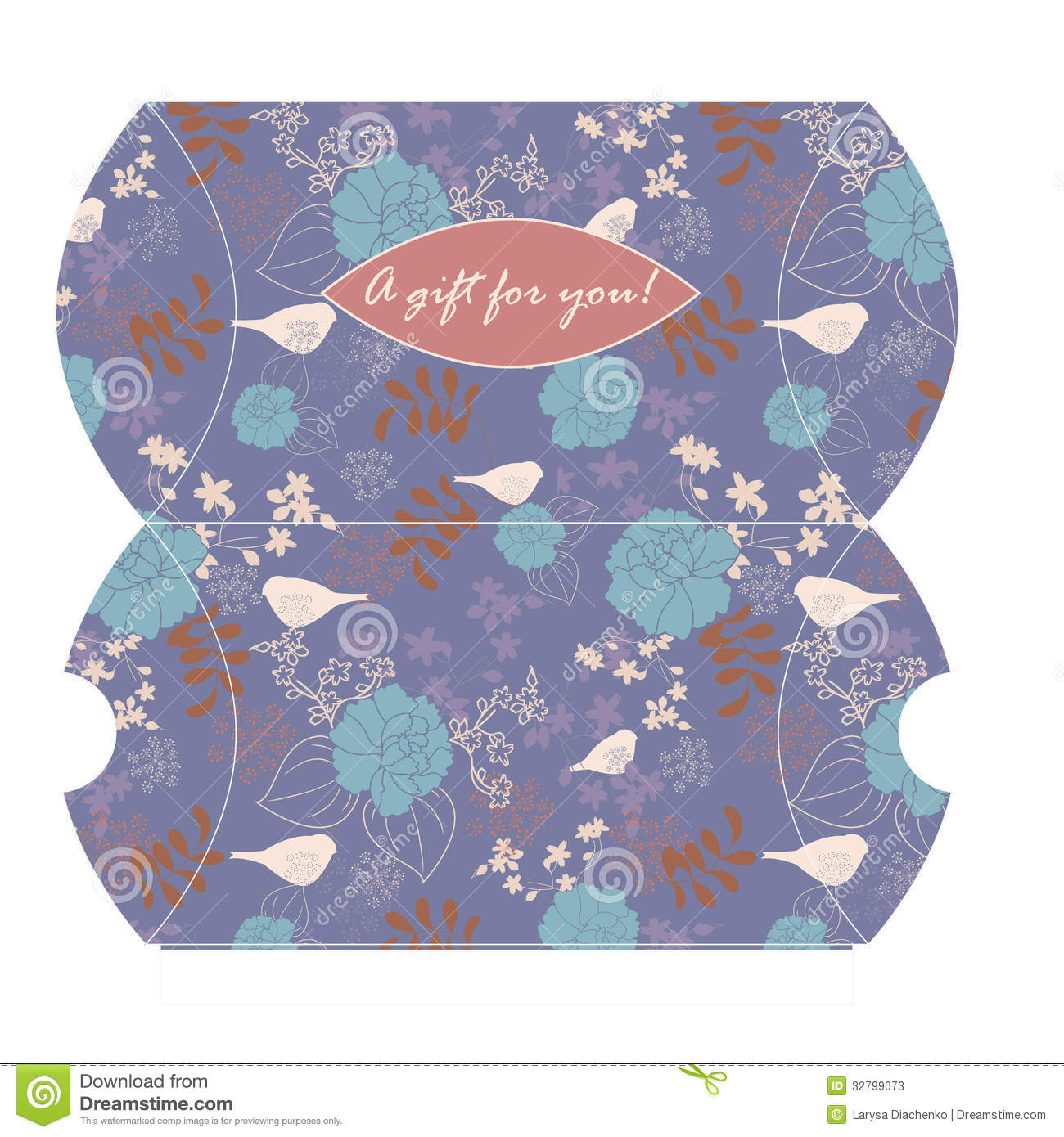 Decorative Boxes Templates : Vector gift box template stock photos image