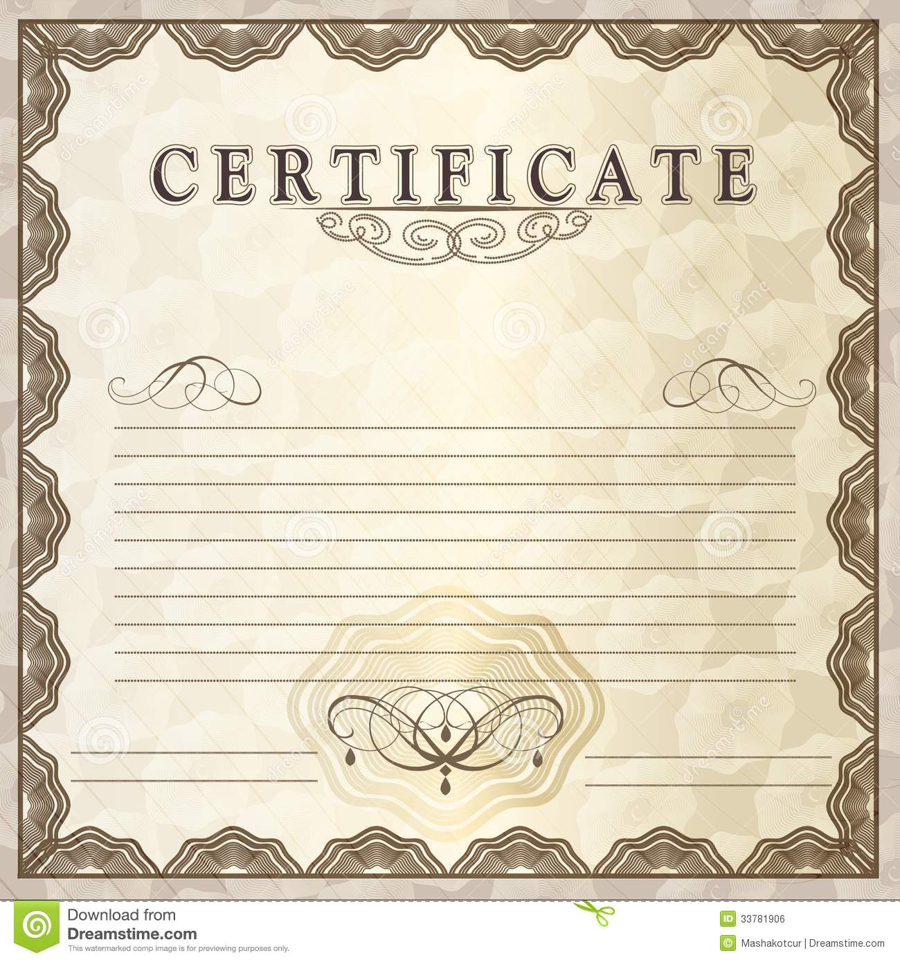 Vector gift certificate for design stock vector illustration of vector gift certificate for design yadclub Gallery