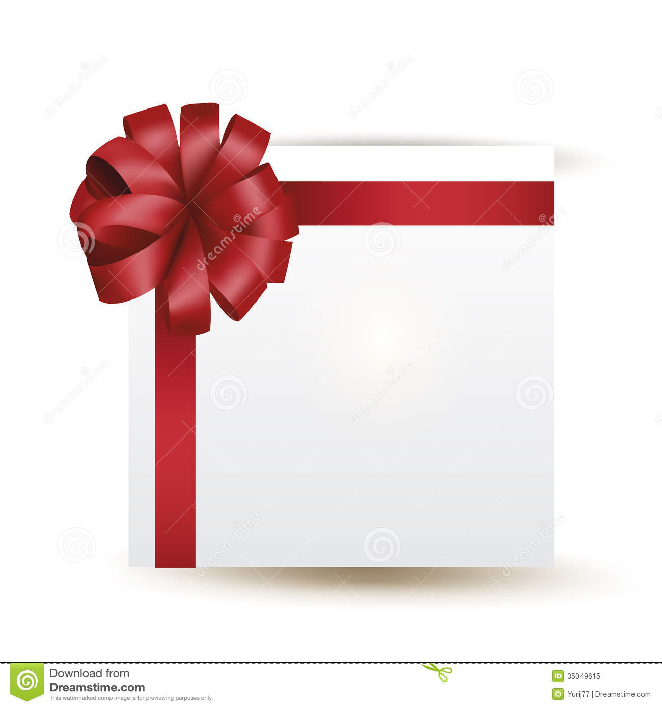 Vector Gift With Red Bow Royalty Free Stock Photo - Image: 35049615