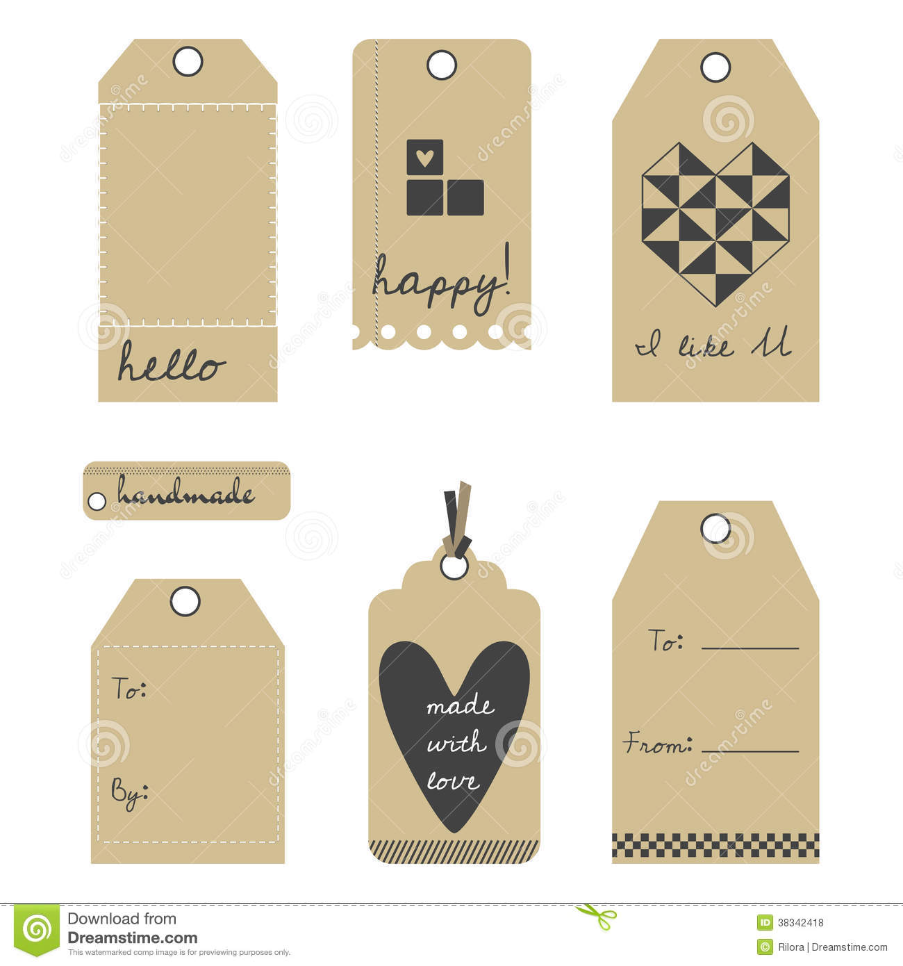 vector gift tags or labels set stock vector illustration of