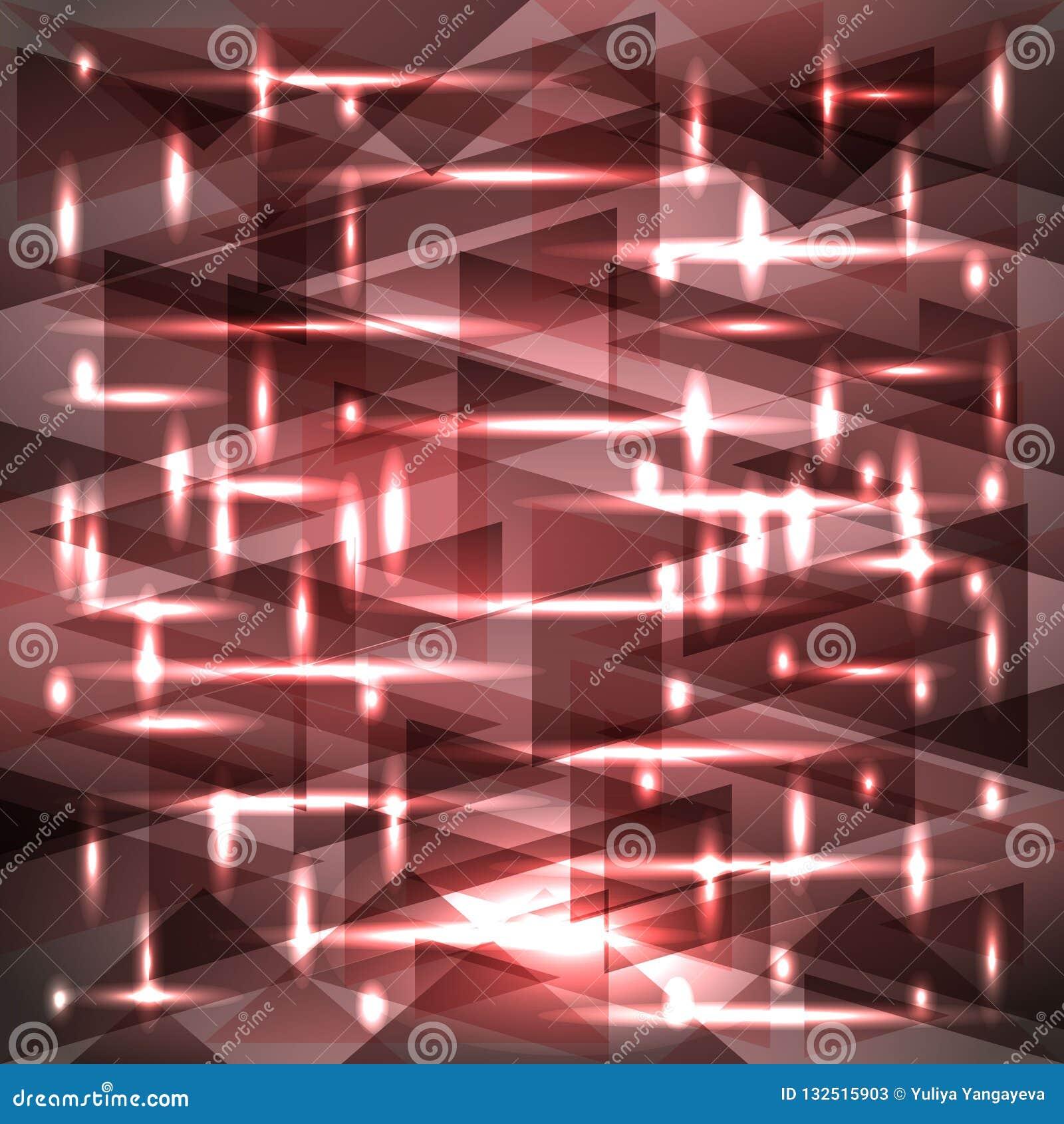 Vector glanzend modderig roze kleurenpatroon van scherven en stroken