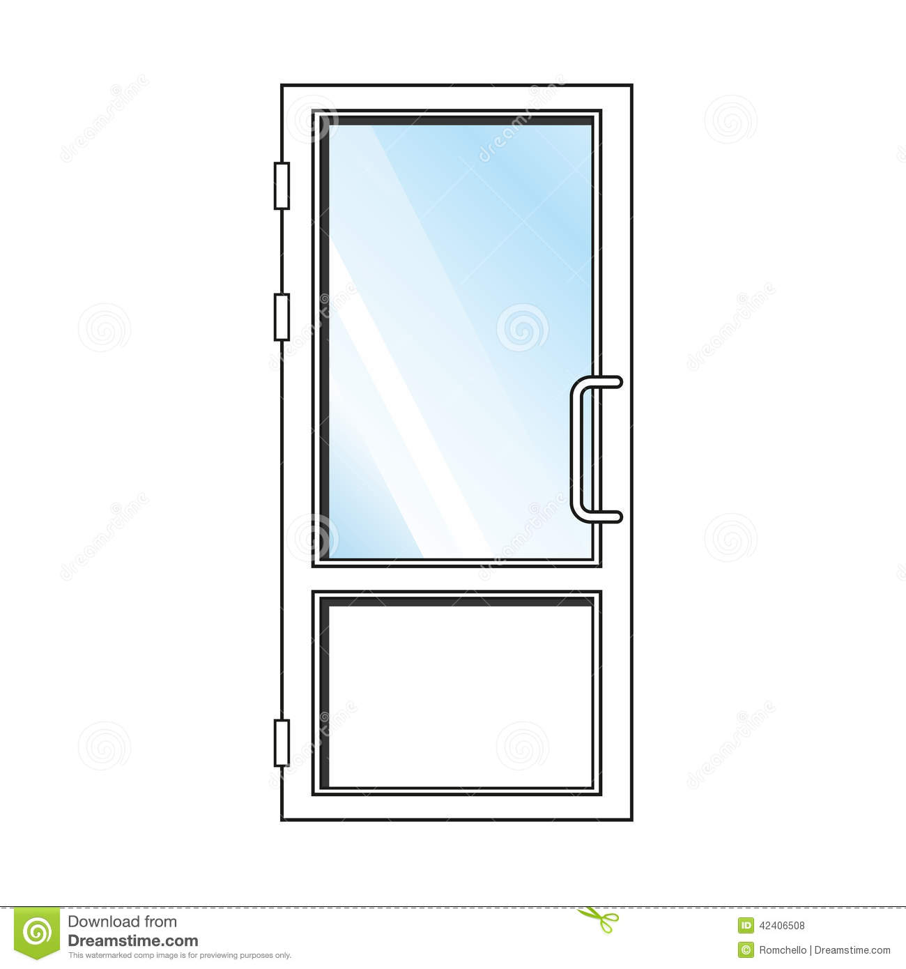 Vector glass door stock illustration image 42406508 for White front door with glass