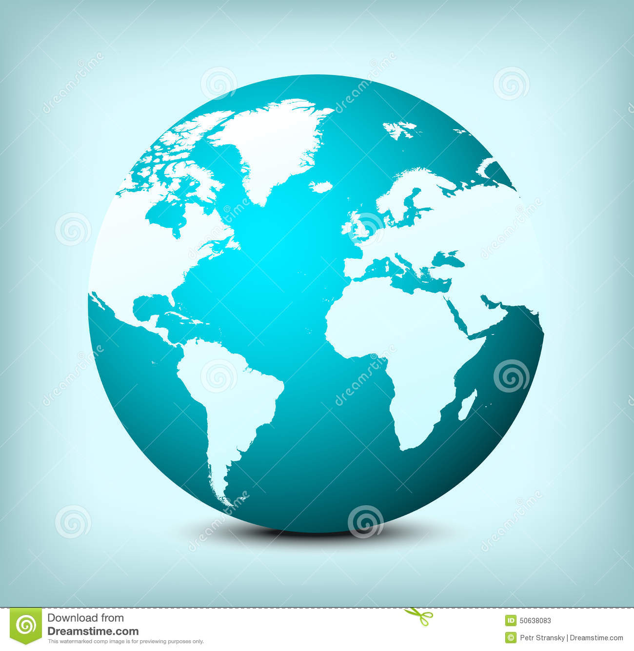 Vector Globe World Map Icon Stock Vector   Illustration of design