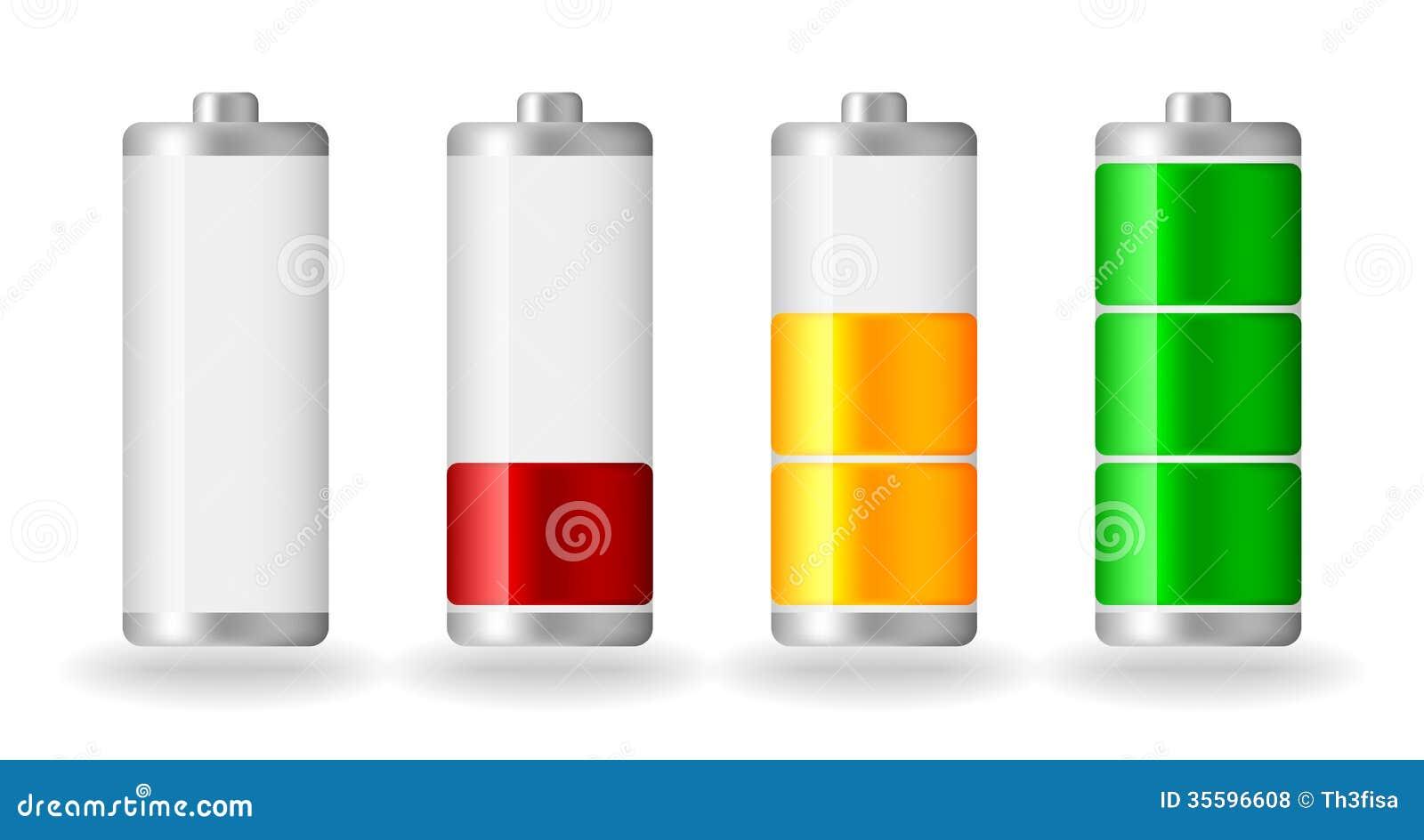 Vector Glossy Battery Fullness Indicator Royalty Free