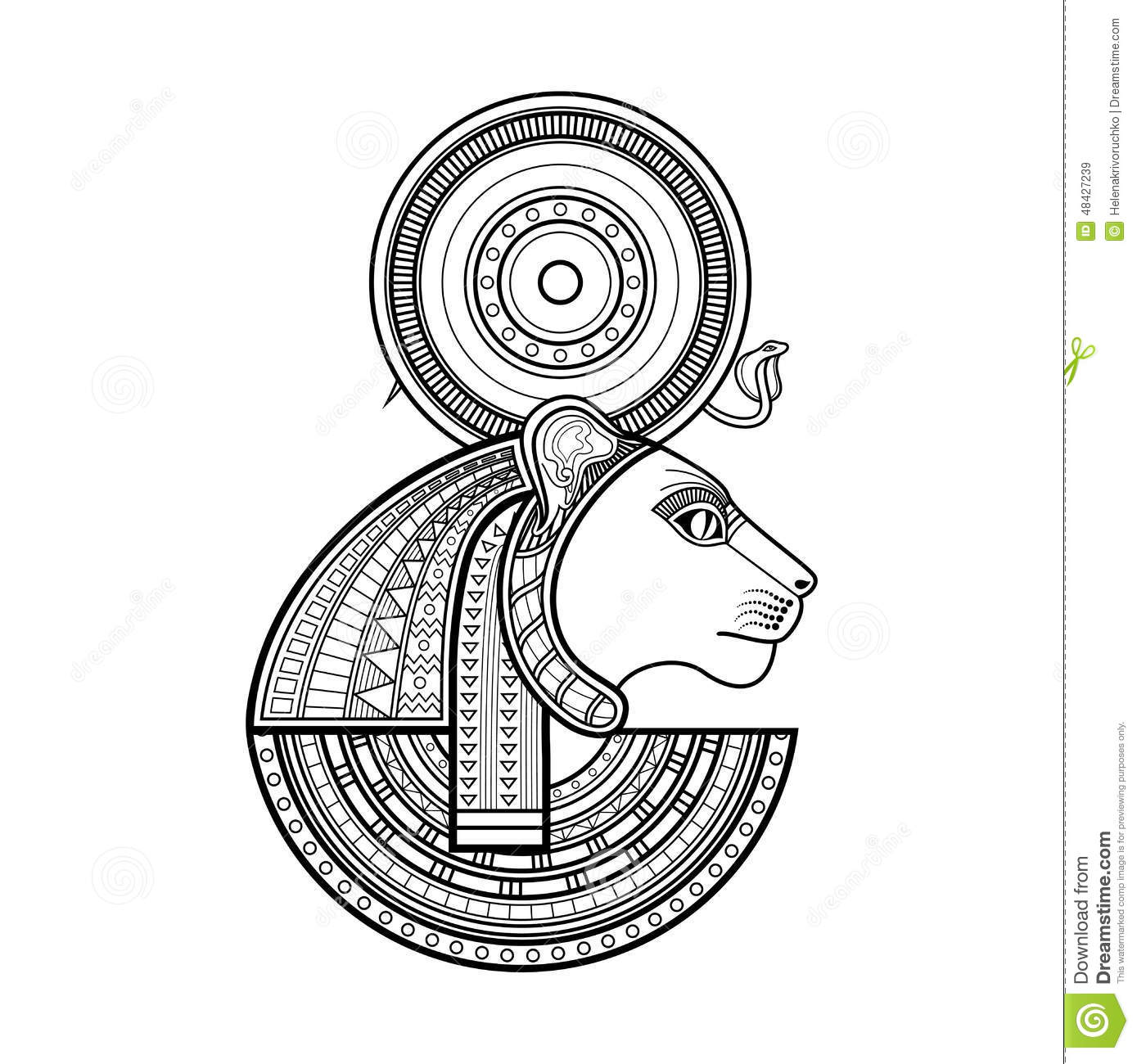 Vector god of ancient egypt stock vector illustration of culture vector god of ancient egypt royalty free stock images biocorpaavc Gallery