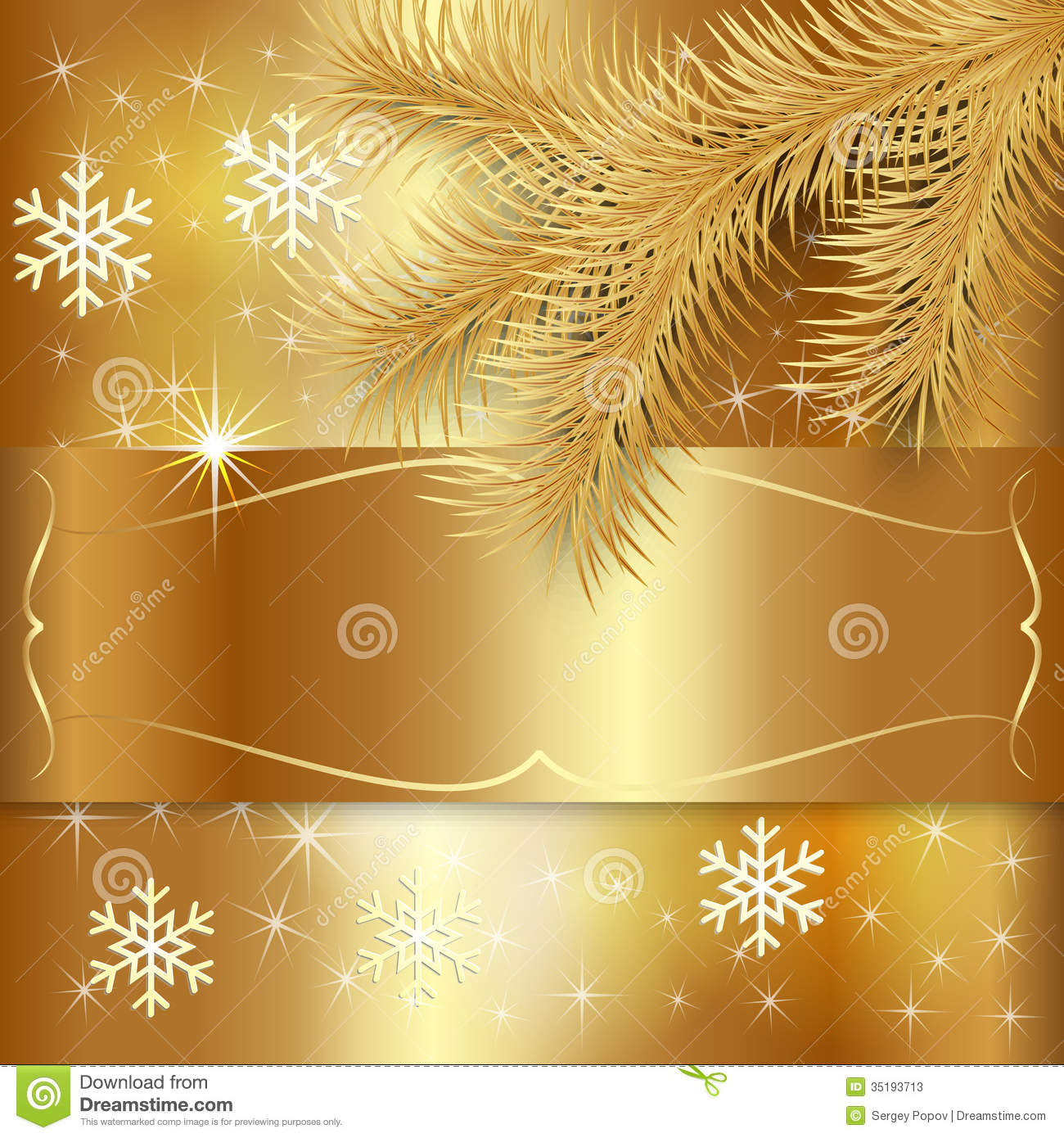 Vector gold christmas holiday greeting card stock vector vector gold christmas holiday greeting card kristyandbryce Images