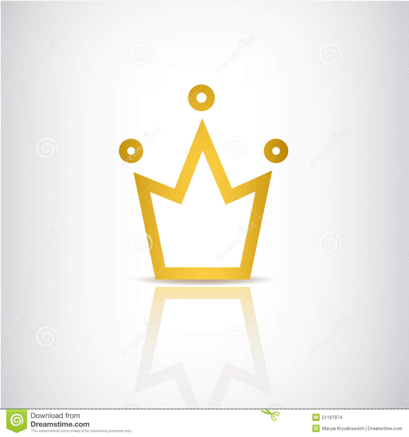 vector gold crown icon stock vector image 51197974