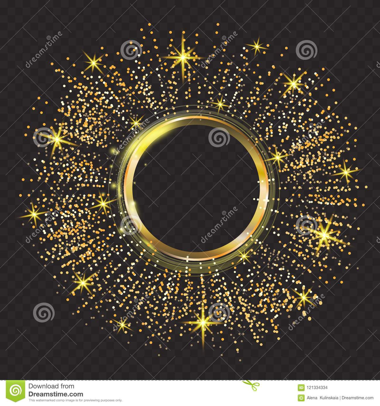 Vector Gold Glitter Particles Background Effect Sparkling Texture