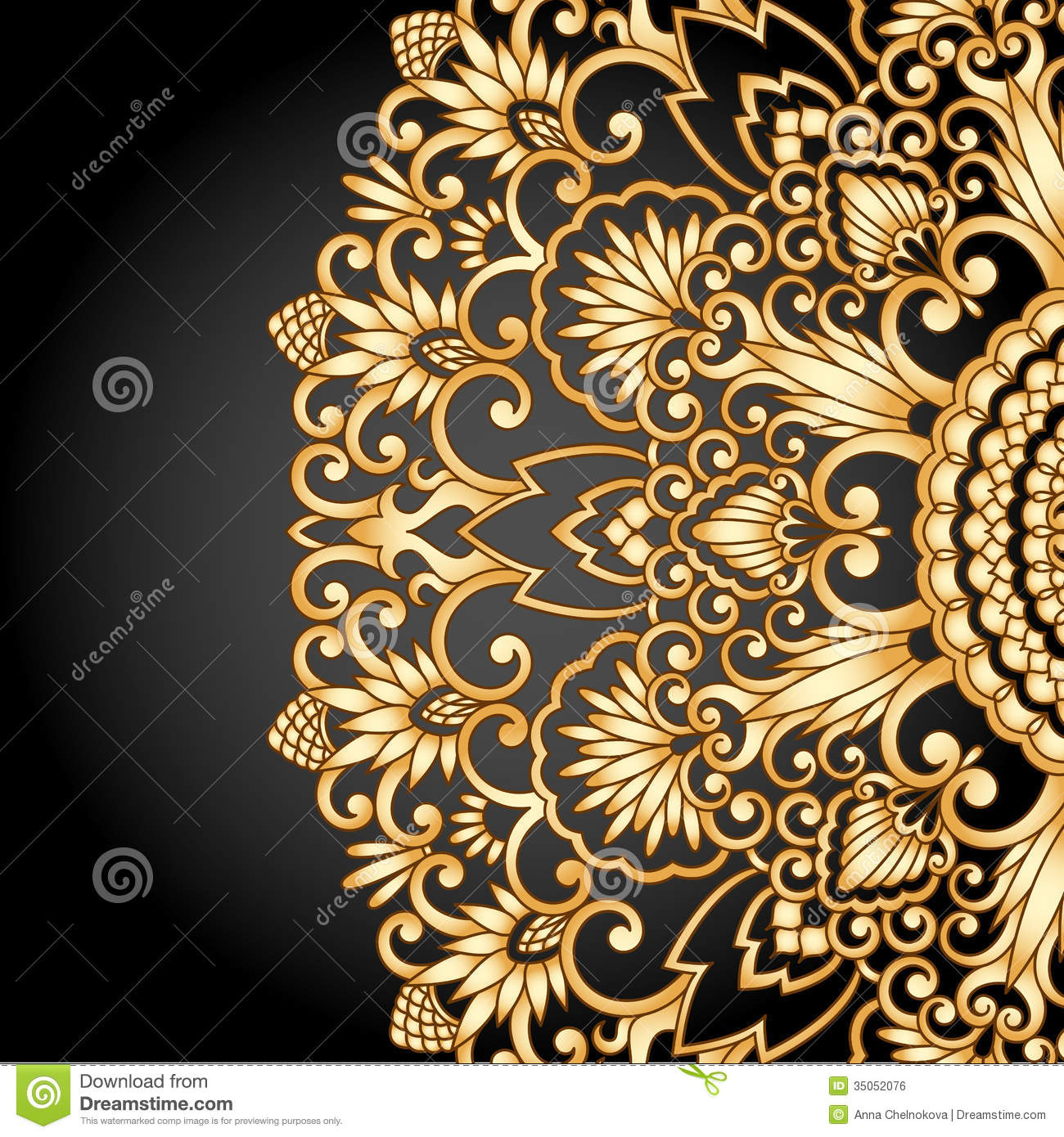 Vector Gold Ornament. Royalty Free Stock Image - Image ...