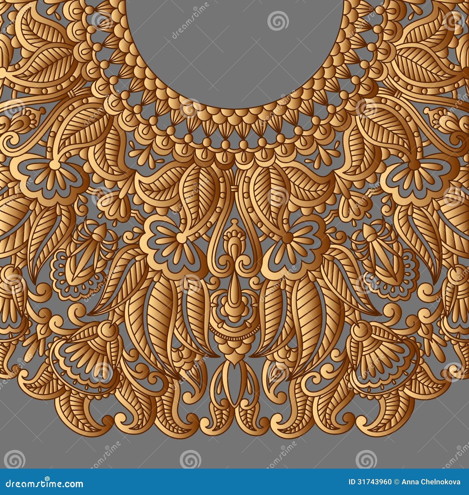 vector gold ornament  stock vector  illustration of dark