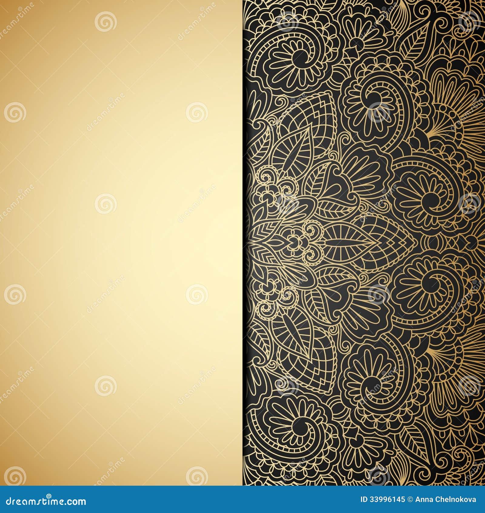 Vintage baroque floral golden ornament vector stock vector image - Vector Gold Ornament Royalty Free Stock Photo Image
