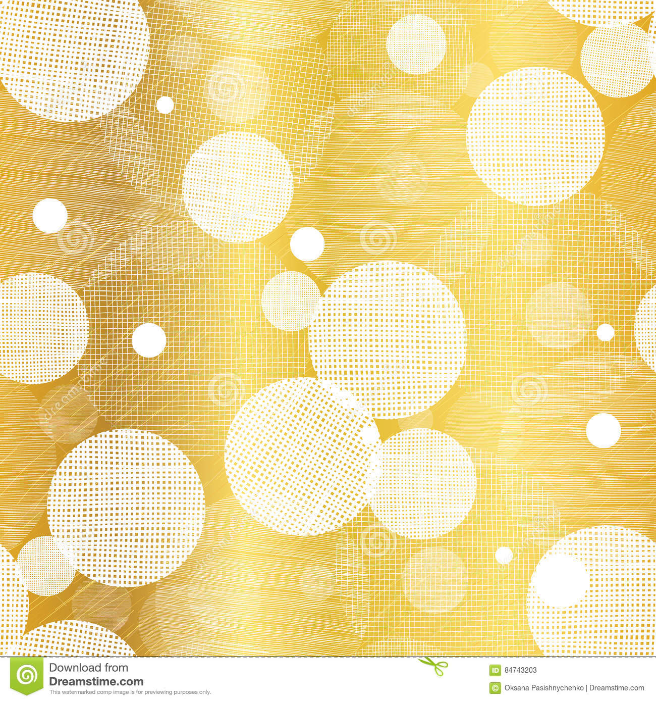 Vector Golden Abstract Swirls Seamless Pattern Background. Great for elegant gold texture fabric, cards, wedding