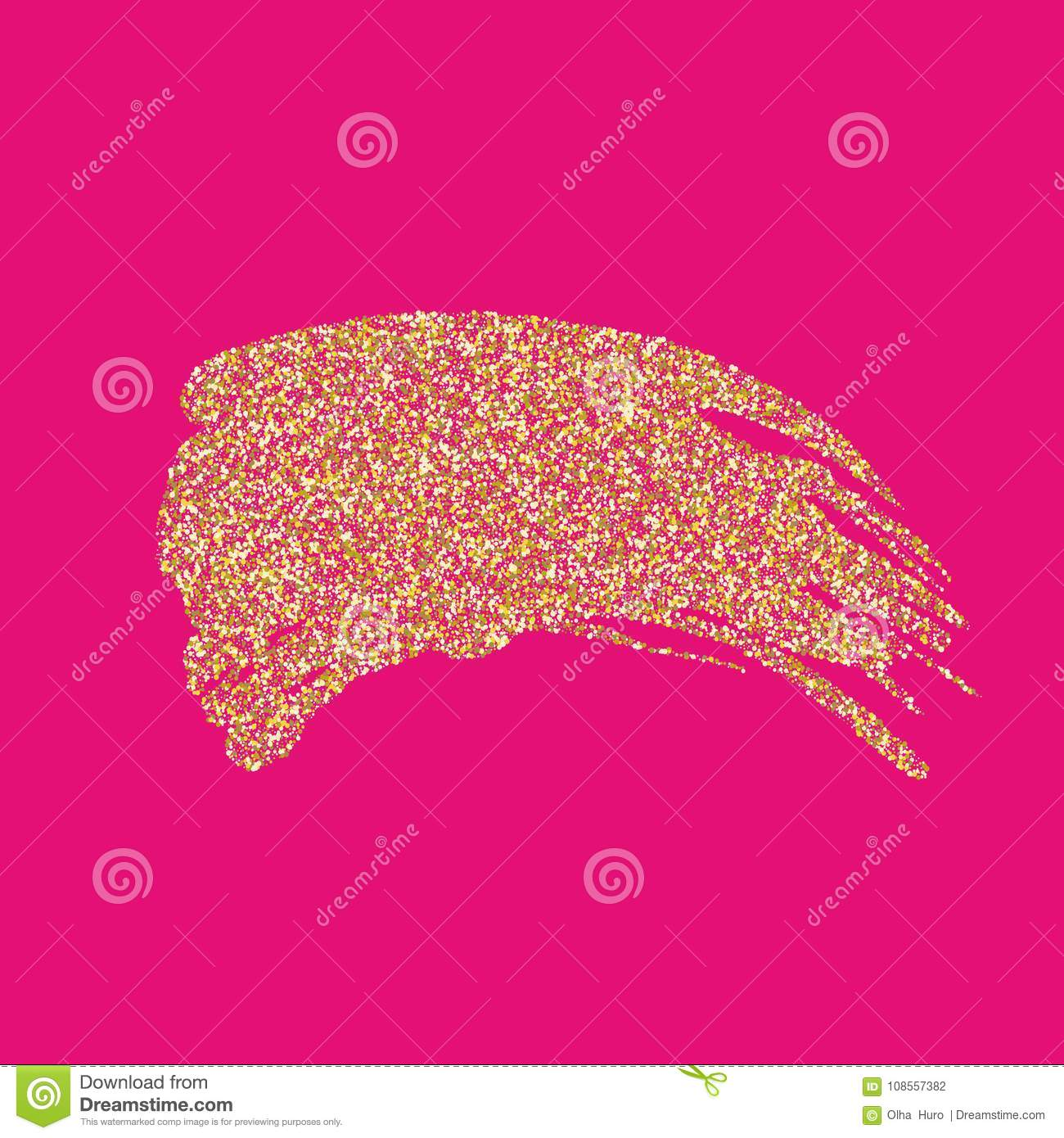 Vector Golden Brush Stroke For You Amazing Design Project Abstract