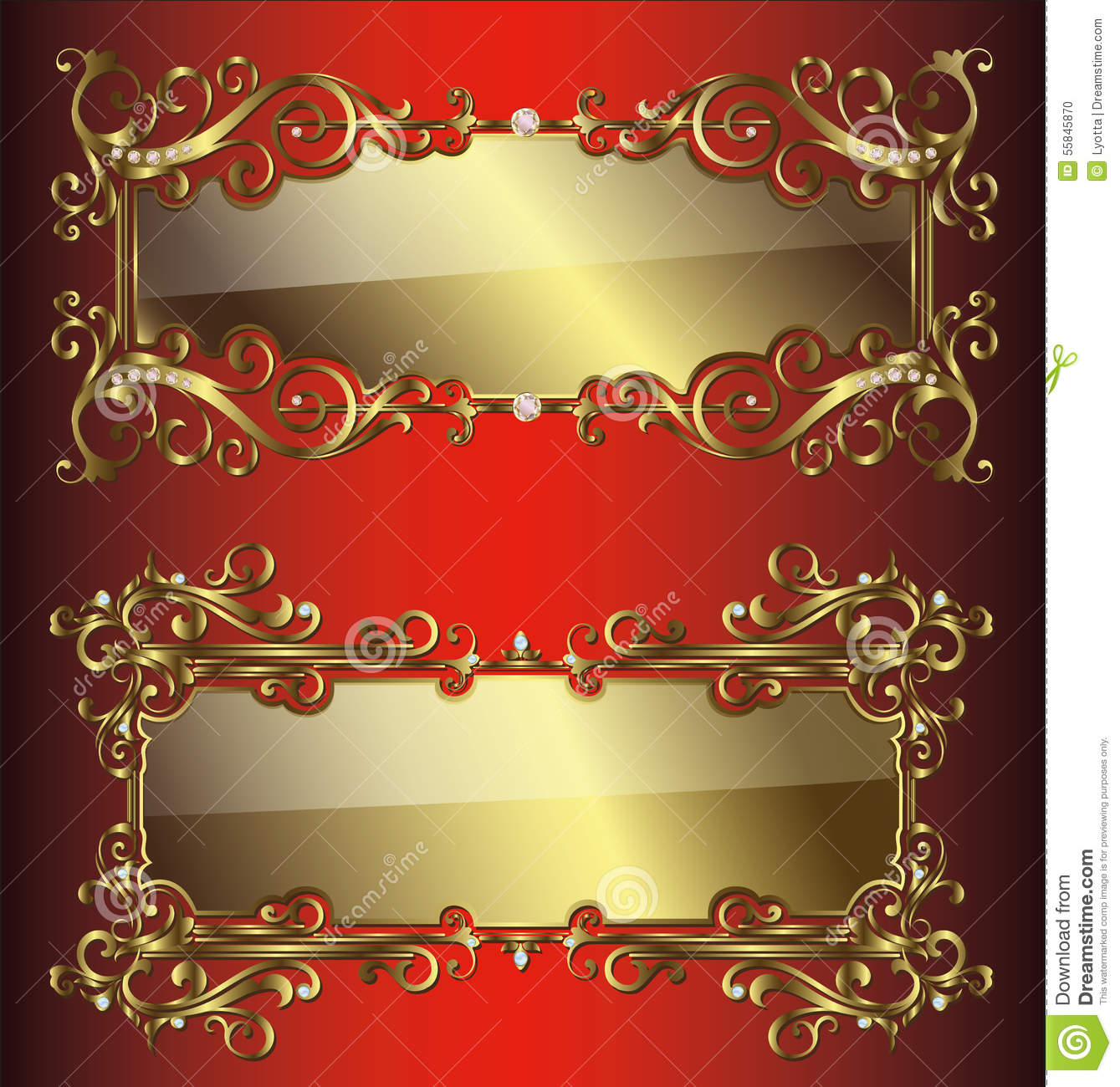 1c5375cd4c79 Vector Golden Frames And Borders Stock Vector - Illustration of ...