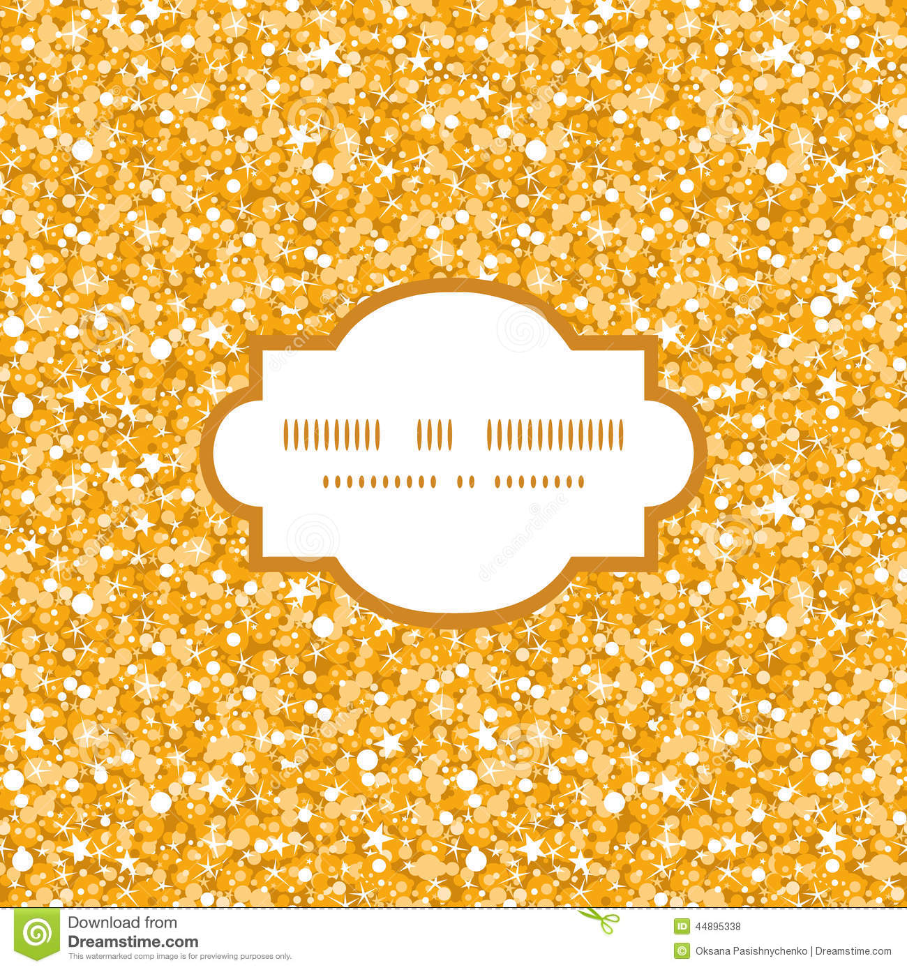Vector Golden Shiny Glitter Texture Frame Seamless Stock Photo ...