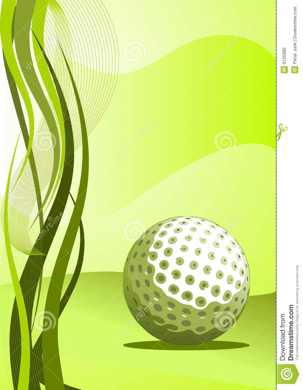 Vector Golf Background stock vector. Image of modern ...