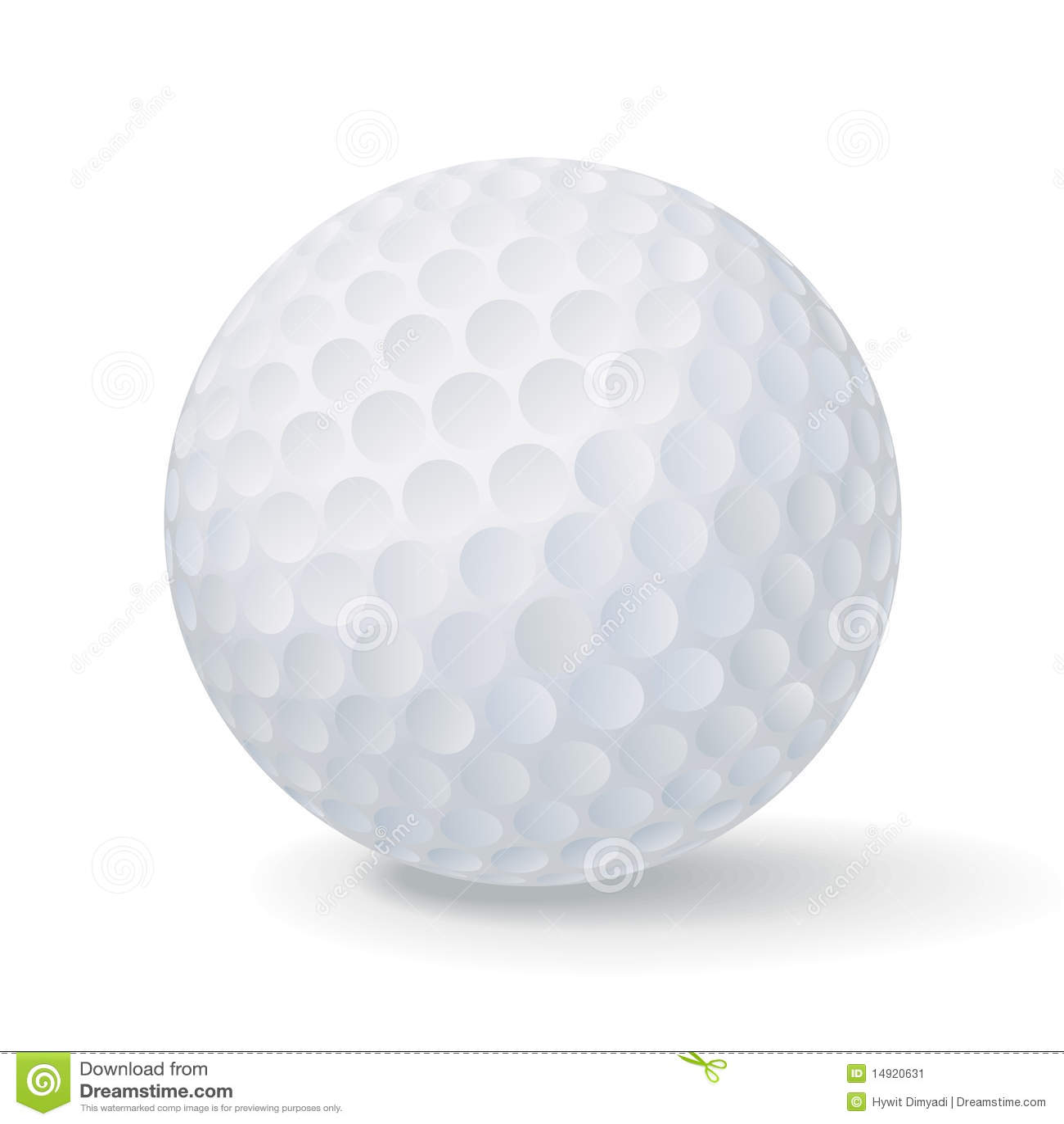 vector golf ball stock vector illustration of clip object 14920631