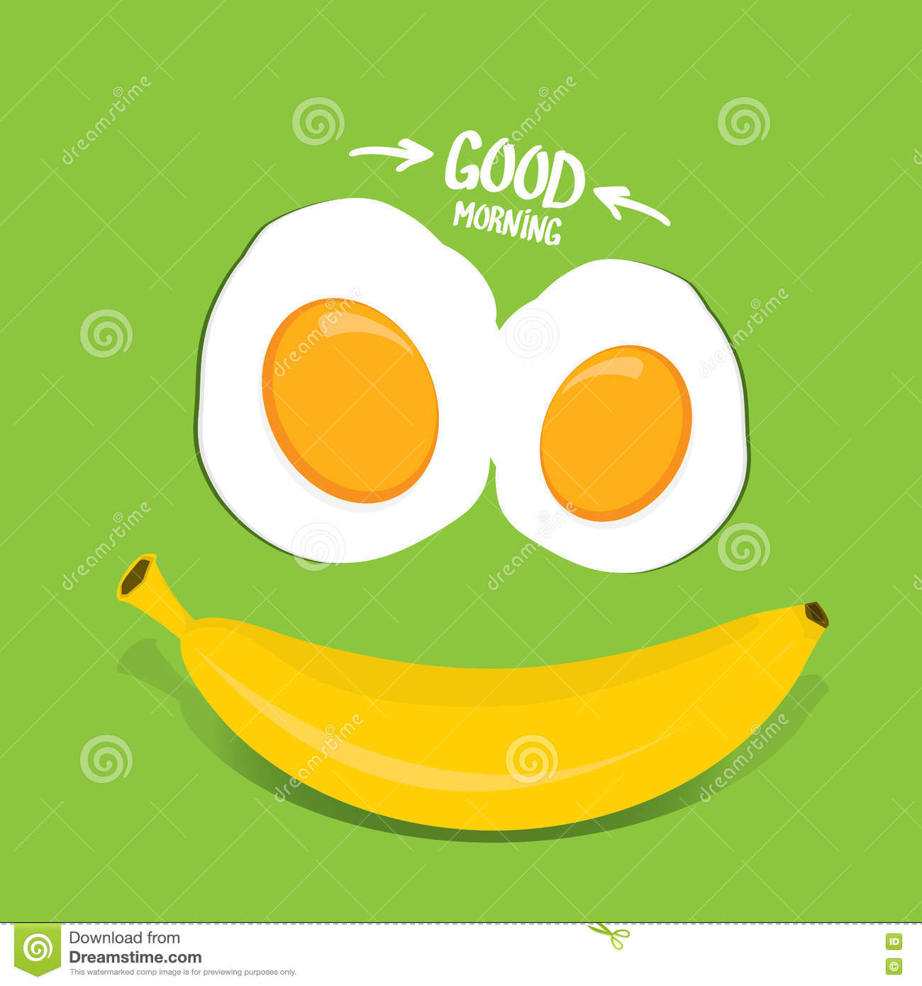 Vector Good Morning Funny Concept Vector Stock Vector Illustration