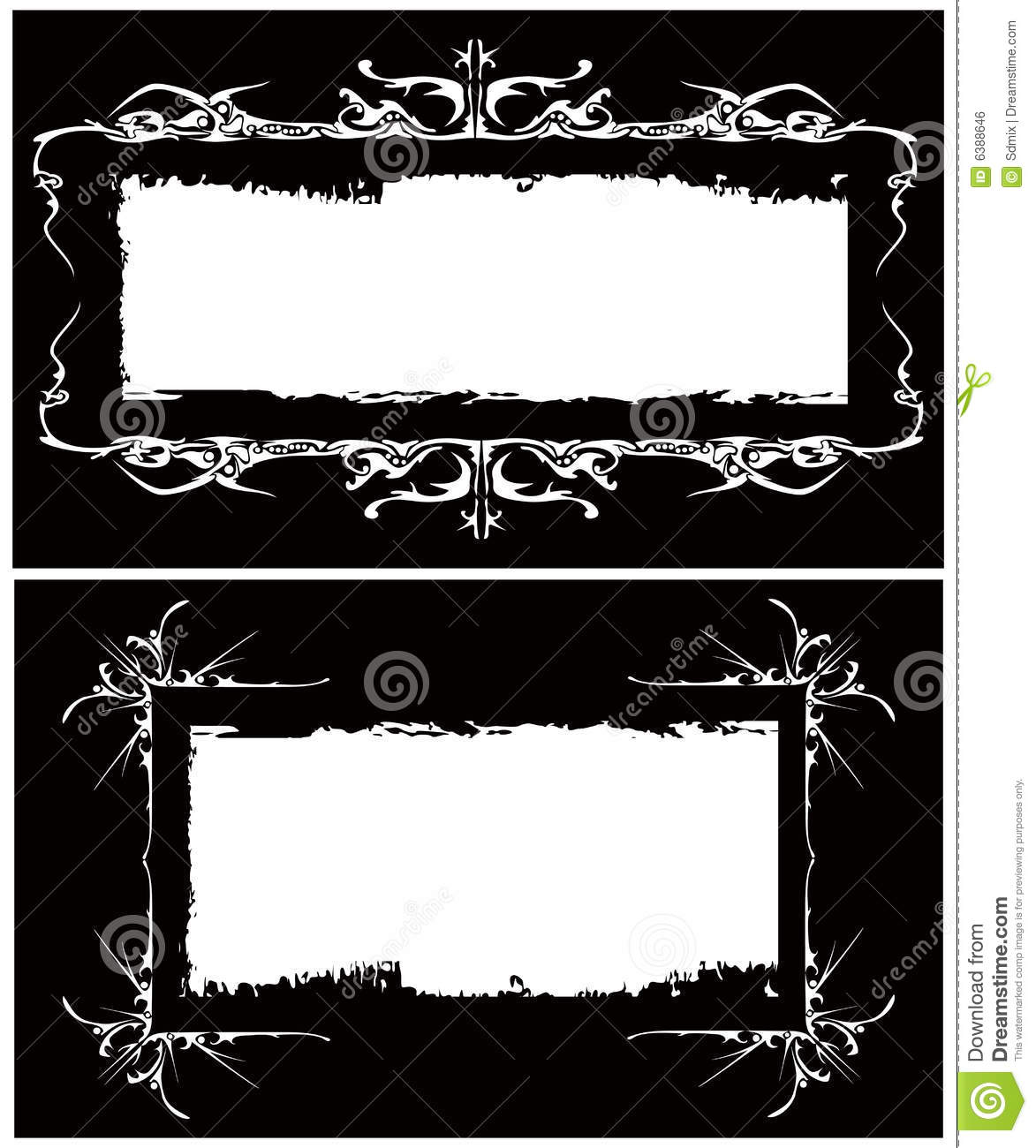 the vector gothic frames image