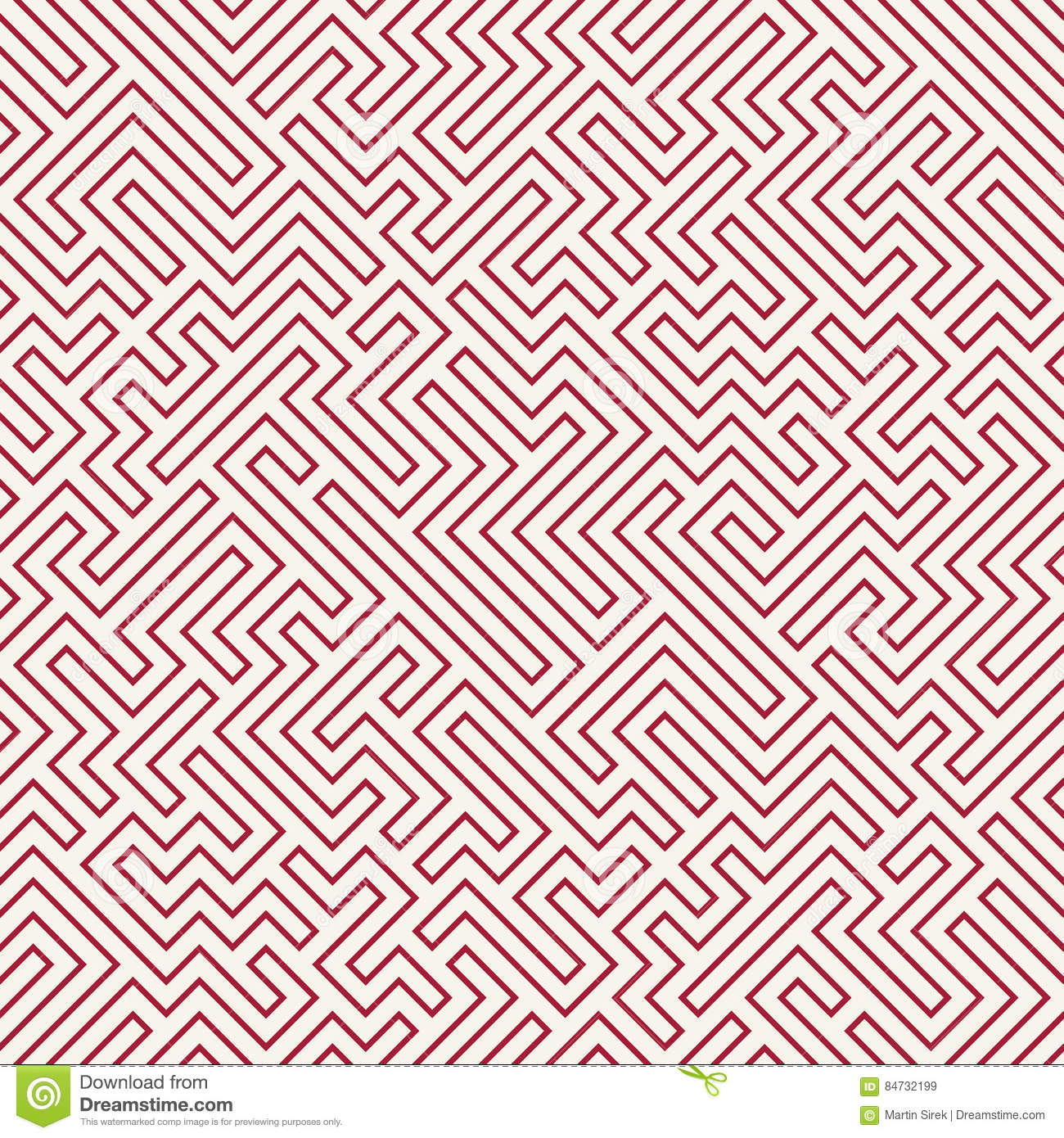 Bed sheets designs texture - Vector Graphic Abstract Geometry Maze Pattern Red Seamless Geometric Labyrinth Background