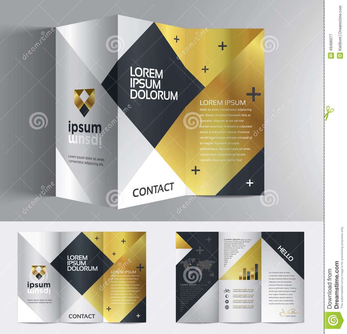 Vector graphic elegant business brochure design for your for Graphic design brochure templates