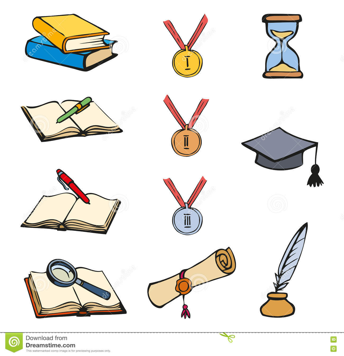 Vector Graphic Symbols Of Education Stock Vector Illustration Of