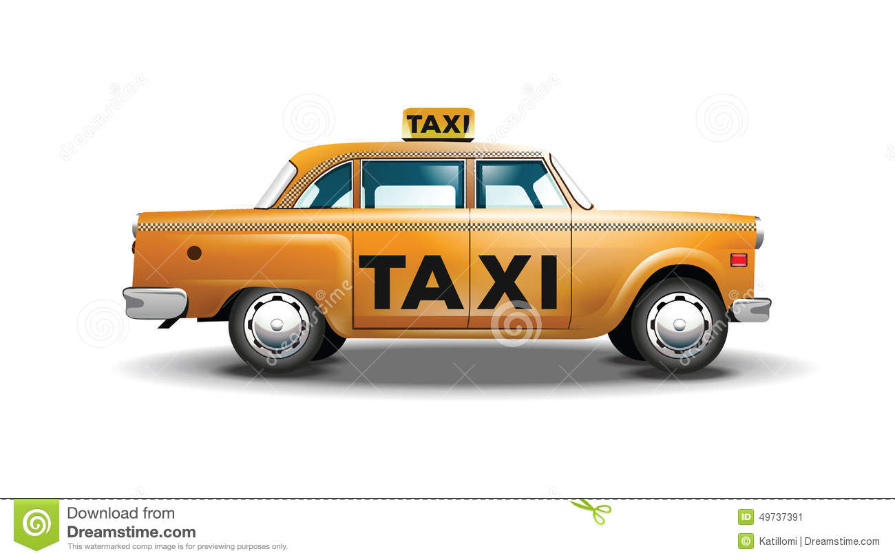 Abstract yellow taxi cab stock image for Schuhschrank yellow cab