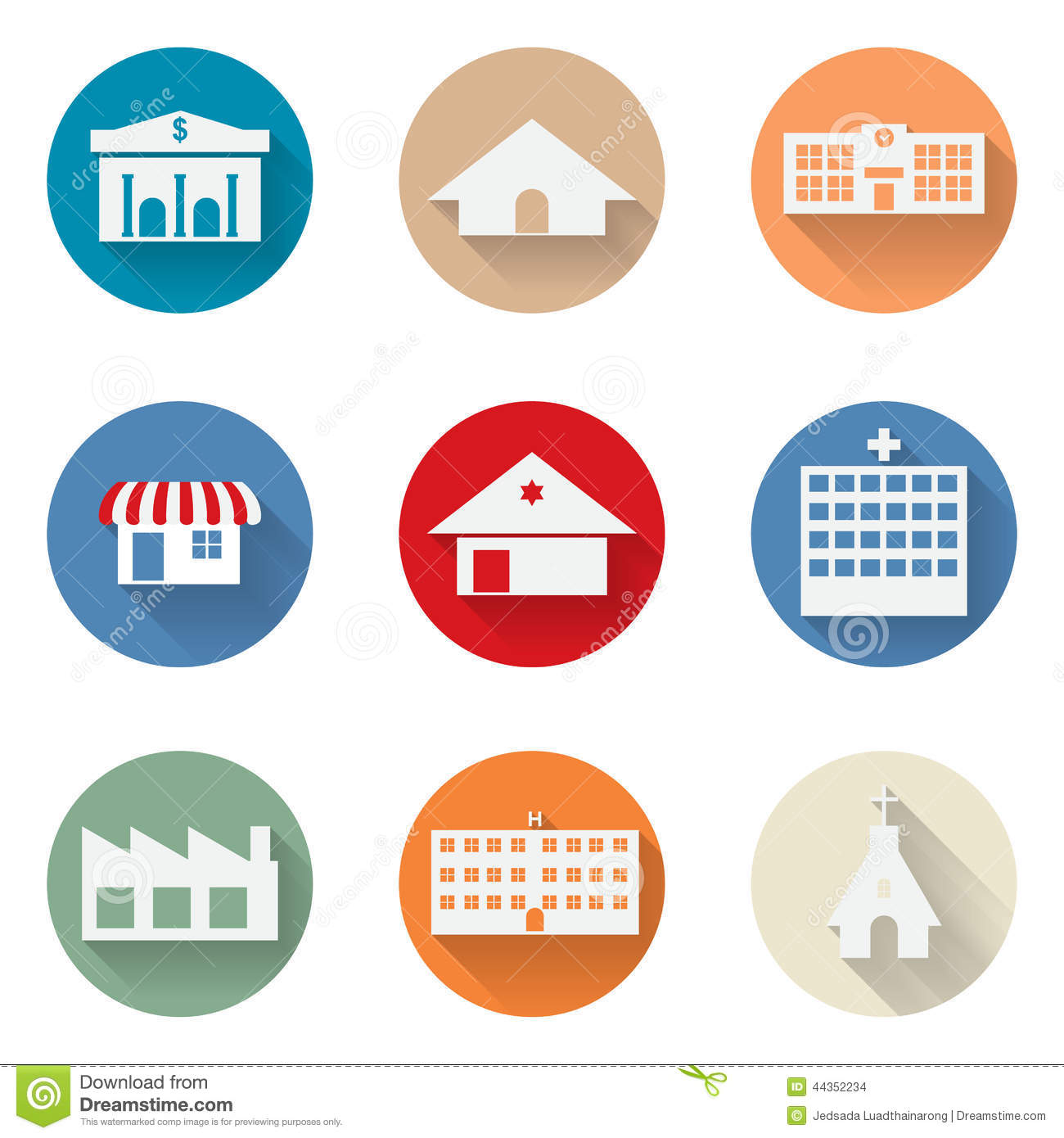 Vector of graphical urban building flat design icon stock vector