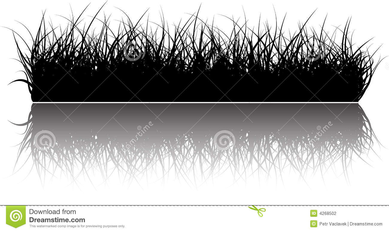 Vector grass background stock vector. Illustration of meadow - 4268502