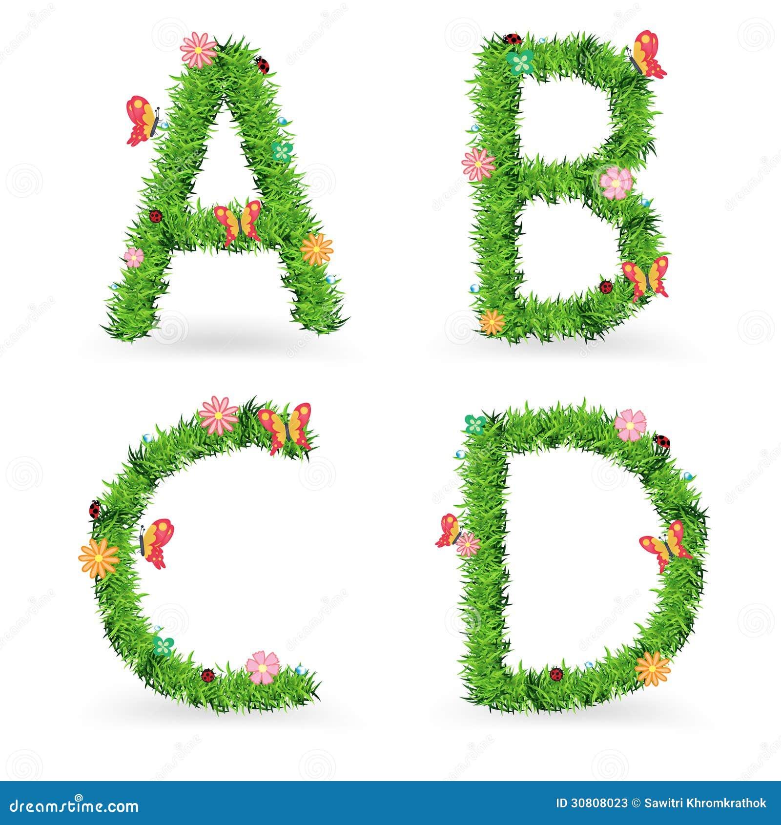 Vector Grass Font Creative Ecological Concept Stock Vector Image 30808023