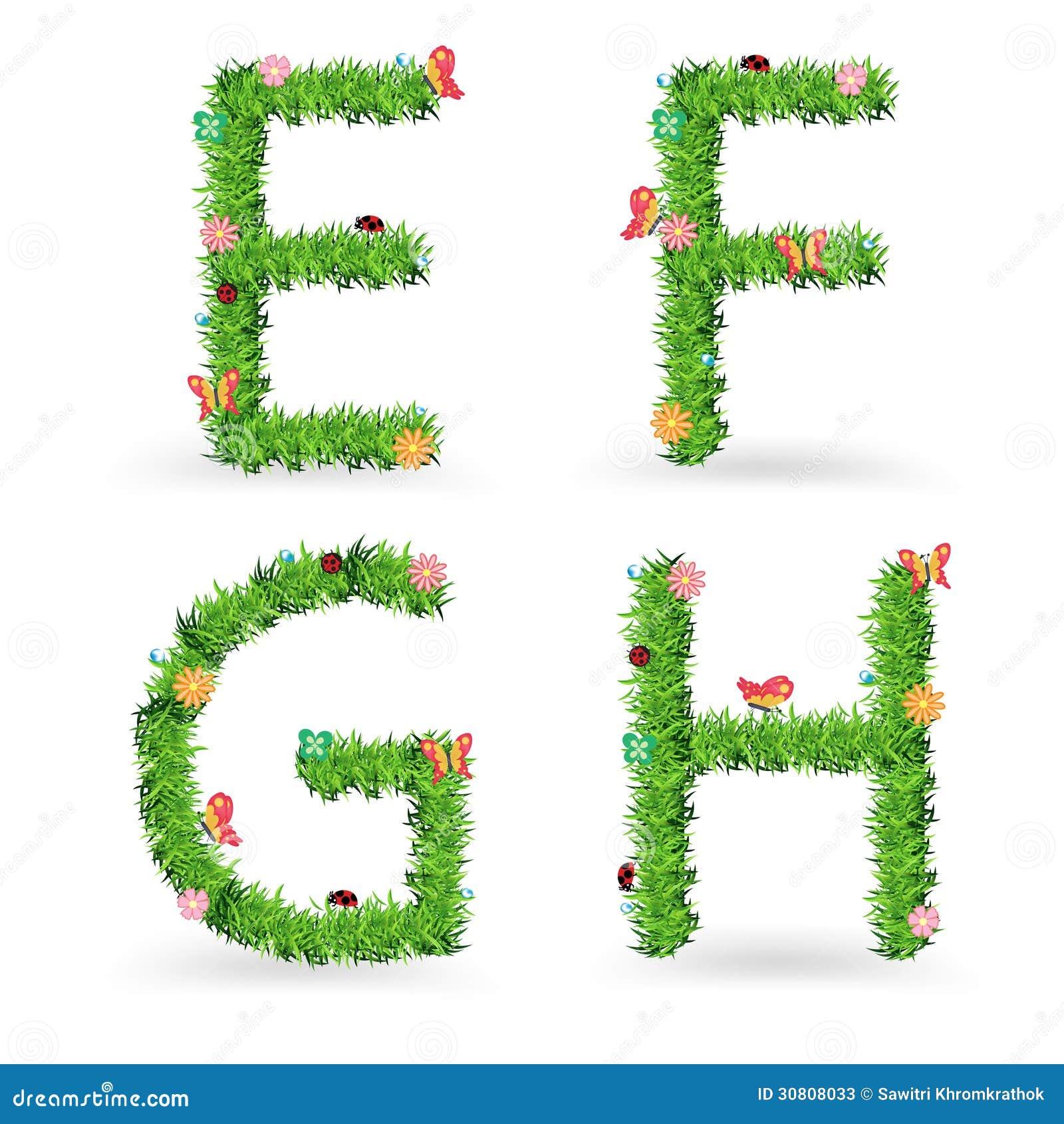 Vector Grass Font Creative Ecological Concept Stock Photos Image 30808033