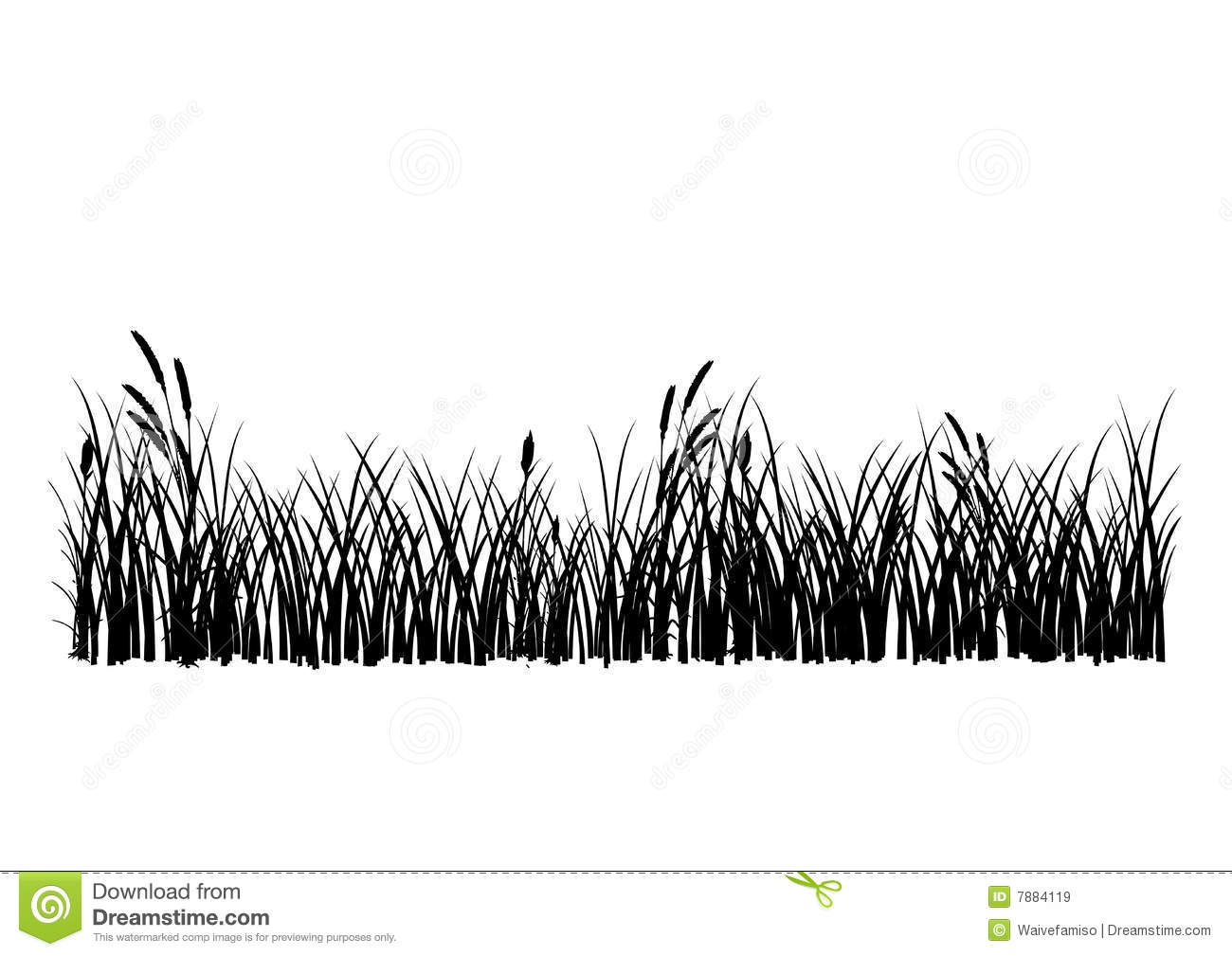 Download Grass Vector Black