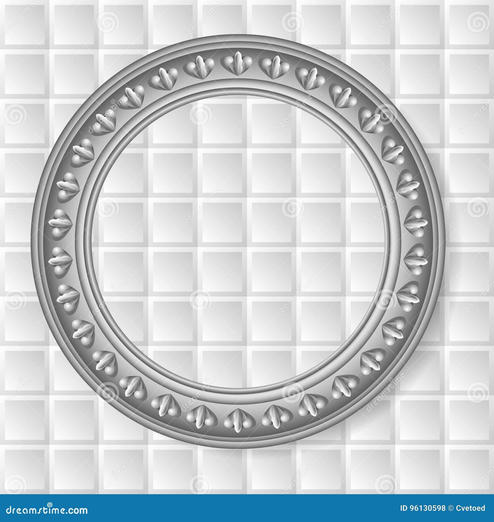 Vector gray circular frame