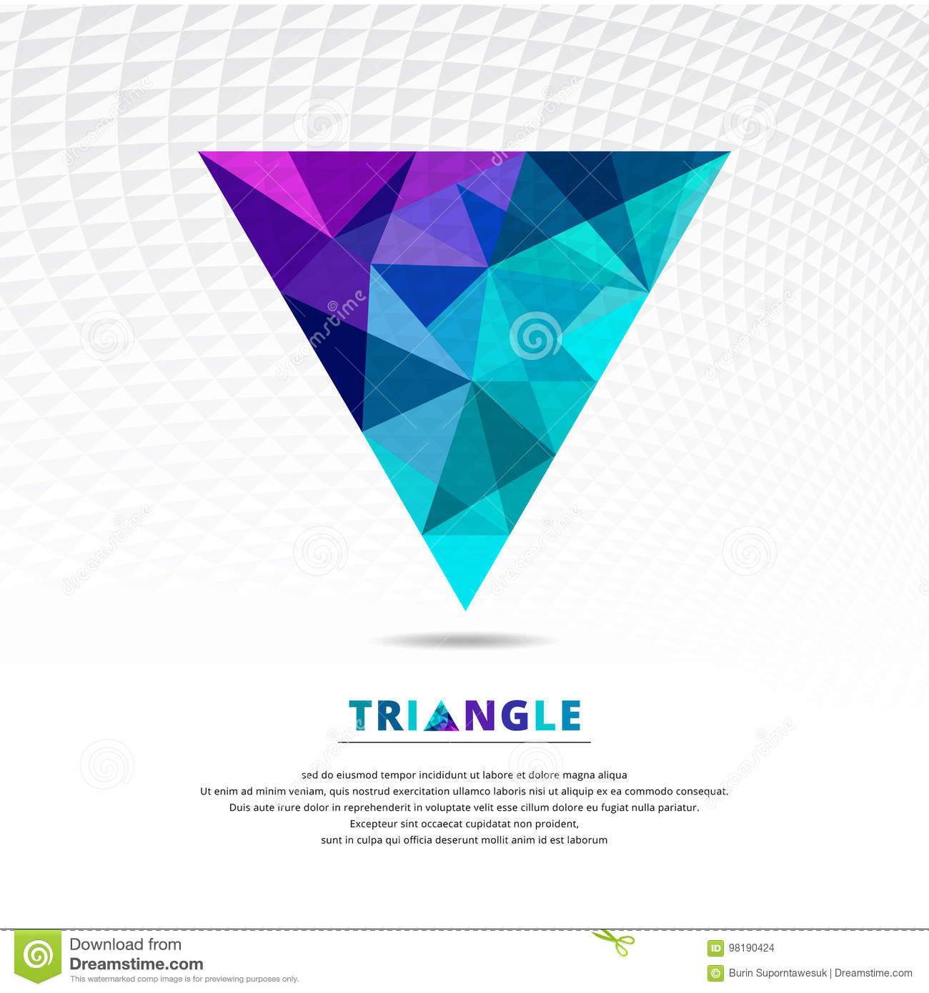 Vector Green Blue And Purple Color Abstract Low Poly Triangle Ge