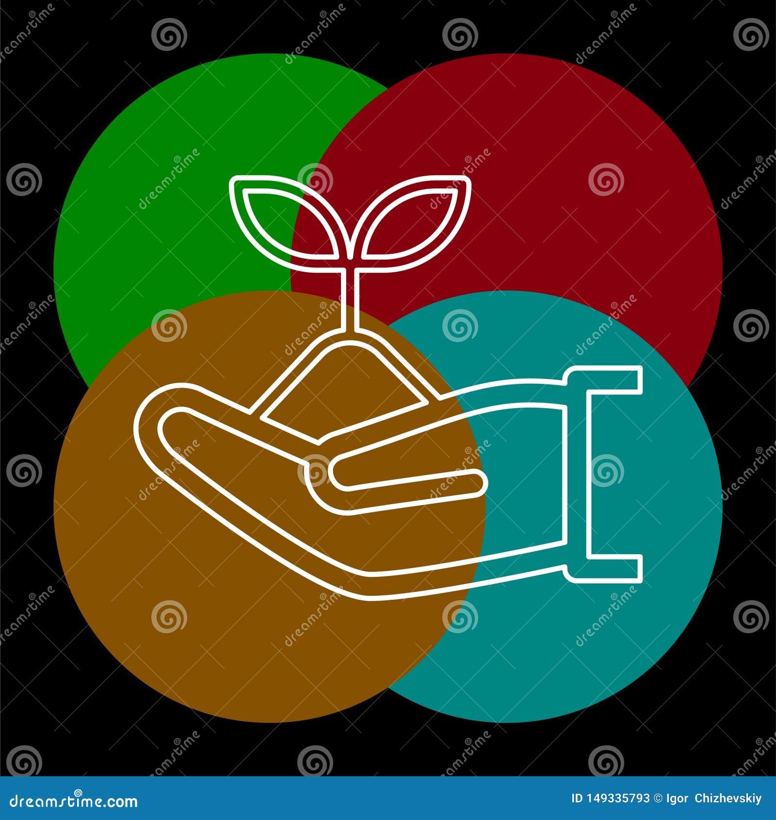 Vector green ecology sign, green environment