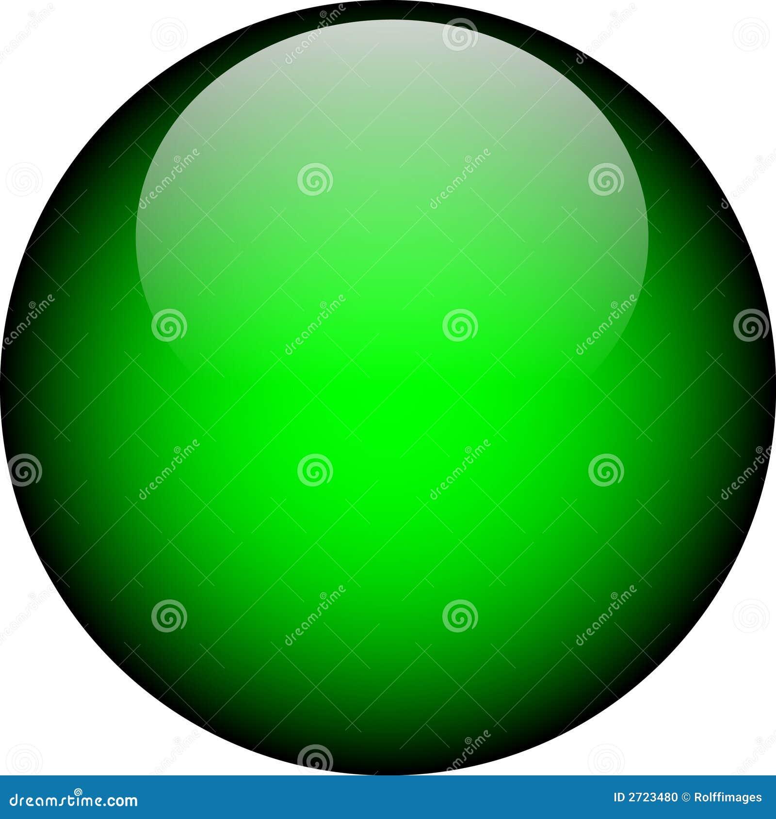 vector green glass button stock photo image 2723480
