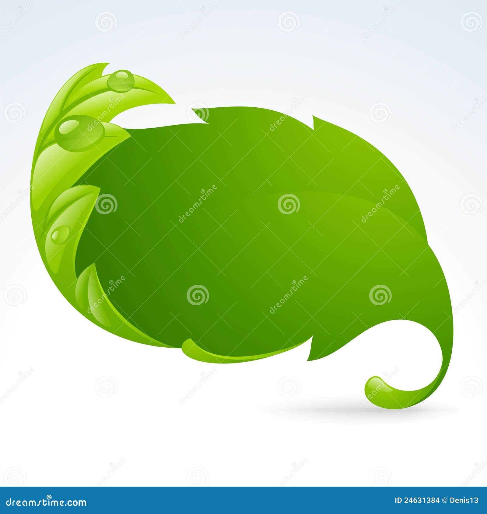 Vector green leaf frame, spring background 3