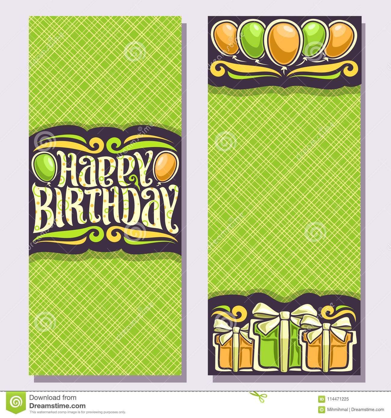 Vector Greeting Cards For Birthday Holiday Stock Vector