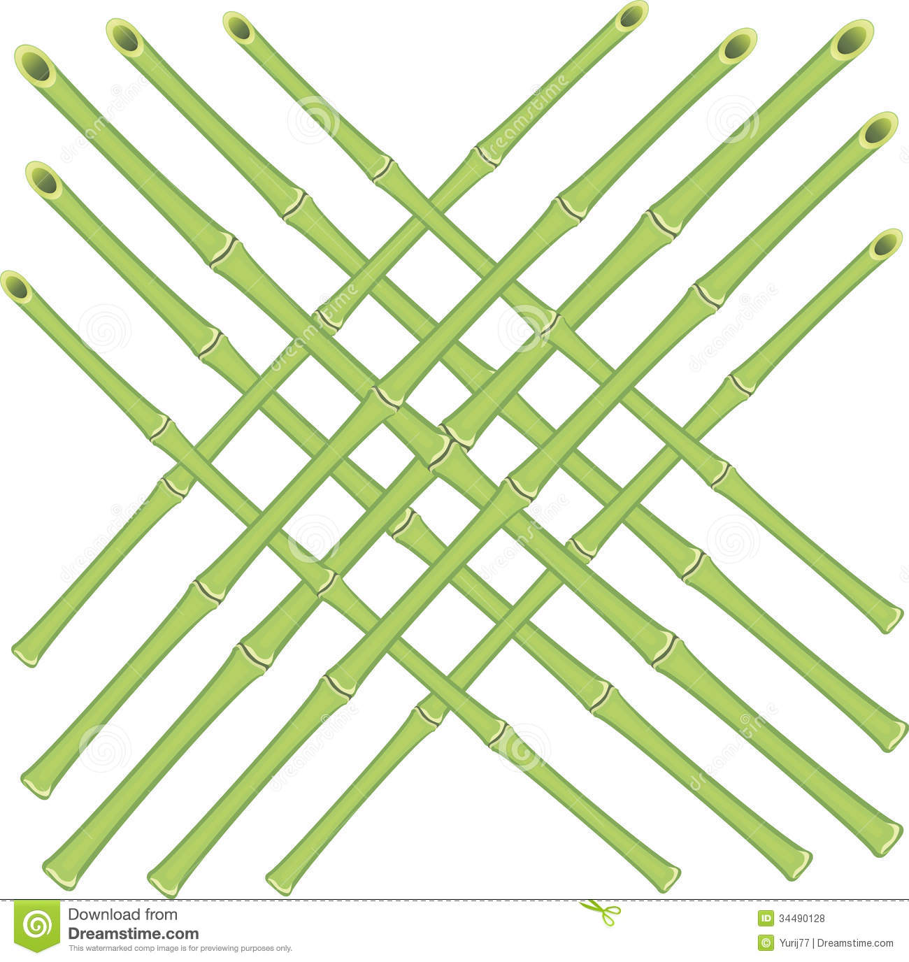 Vector grid of bamboo rods stock image abstract