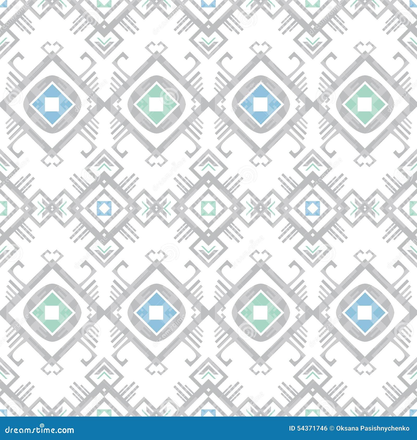 Vector grijs blauw stammen geometrisch naadloos patroon