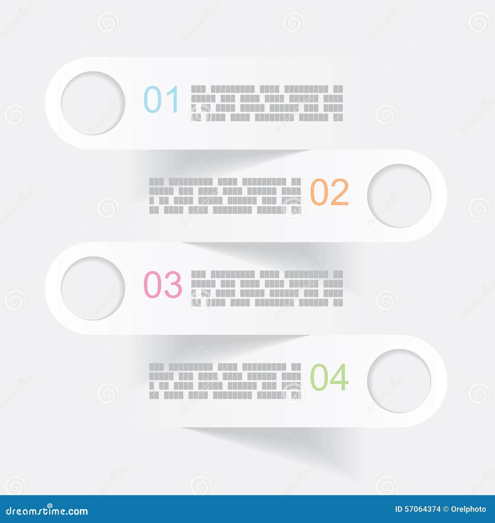 Vector grijze infographicsbanners
