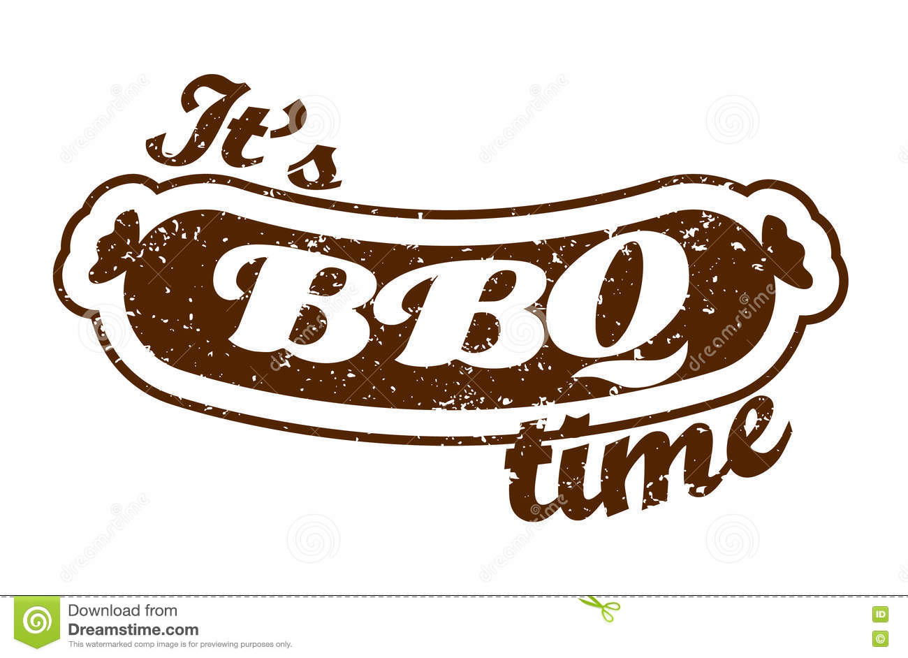 vector grill sausage it s barbecue time summer bbq bbq season