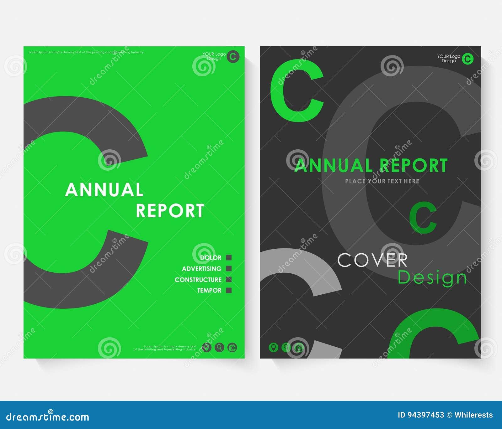 Vector Gris De La Plantilla Del Diseño De La Cubierta Del Informe ...