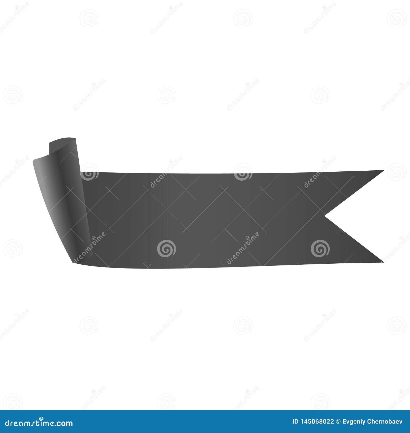 Vector gris eps10 de la cinta pendiente gris del metal de la cinta en el fondo blanco