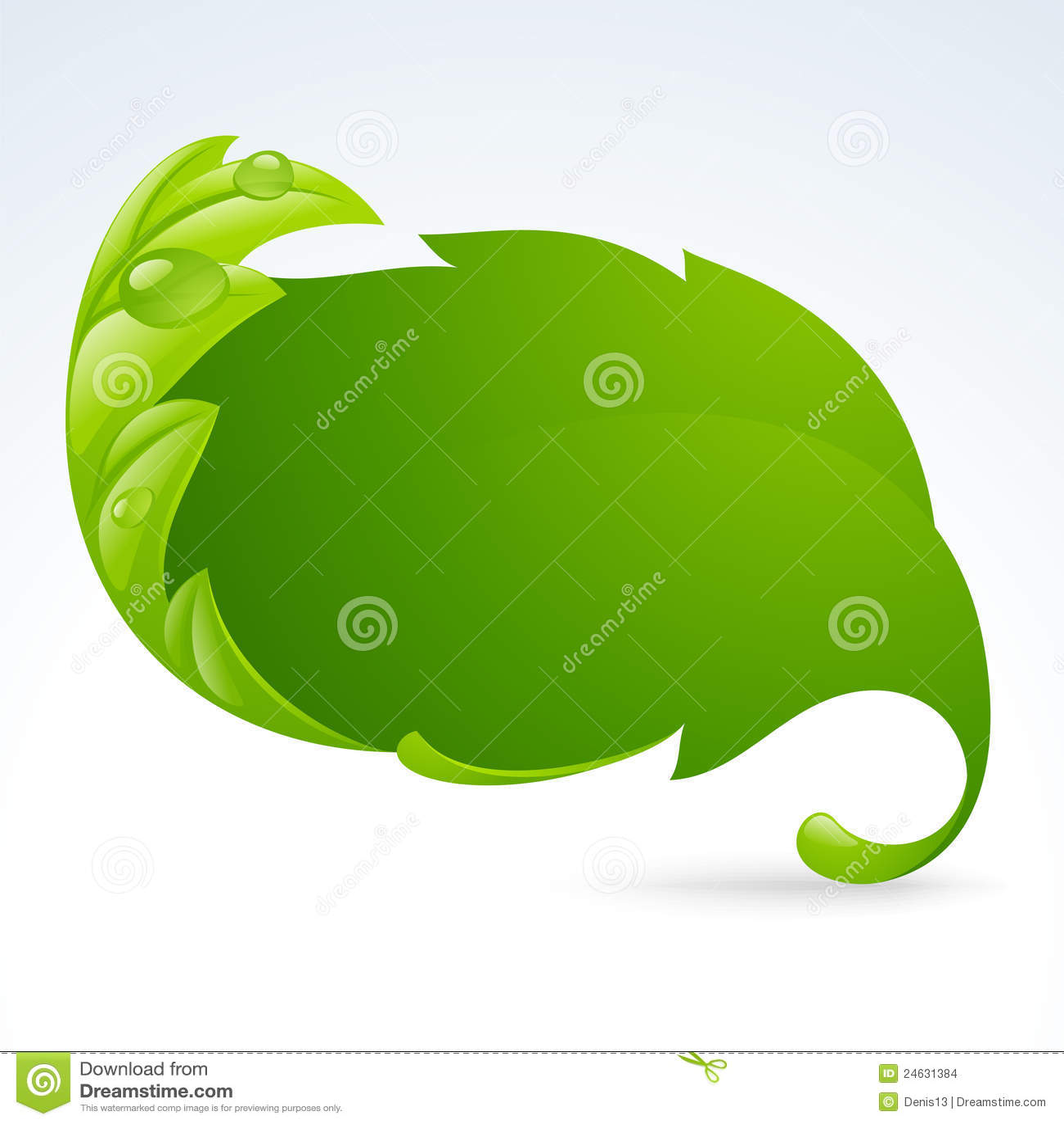 Vector groen bladframe, de lenteachtergrond 3