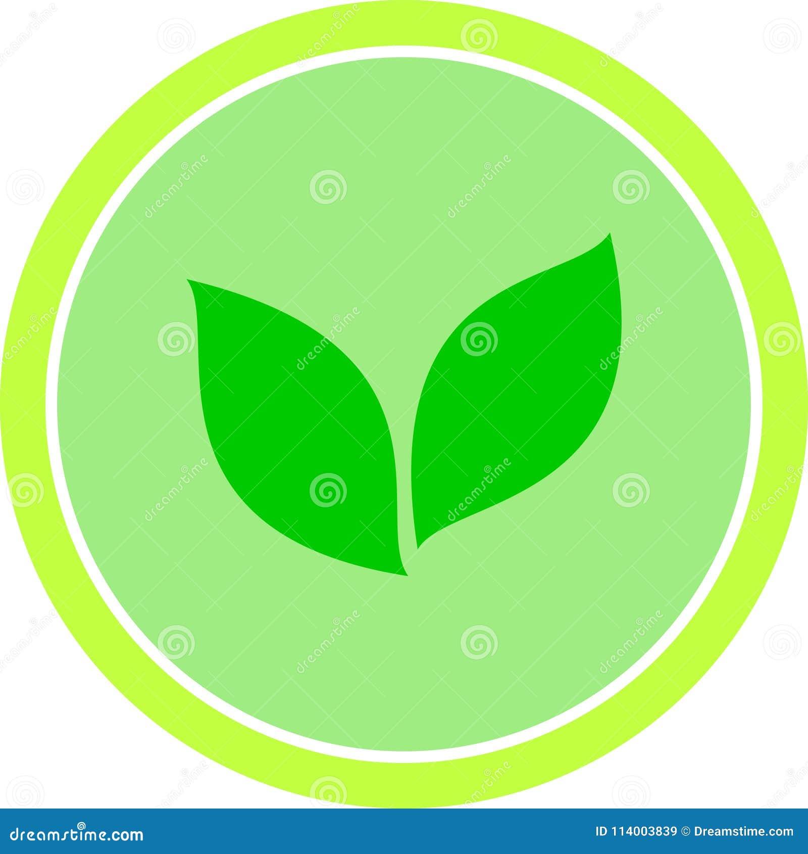 Vector groene de aard bioveganist van het ecoteken