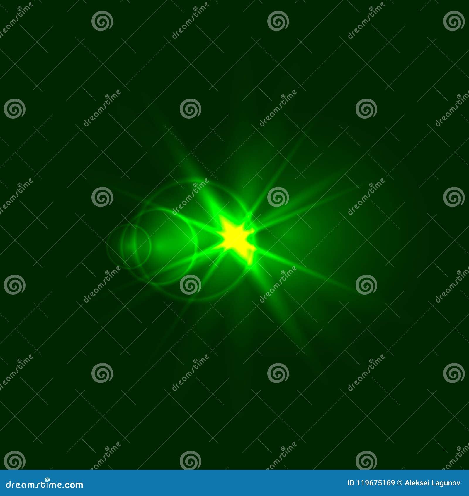 Vector Groene Fonkeling, Energieconcept, Glanzende Illustratie