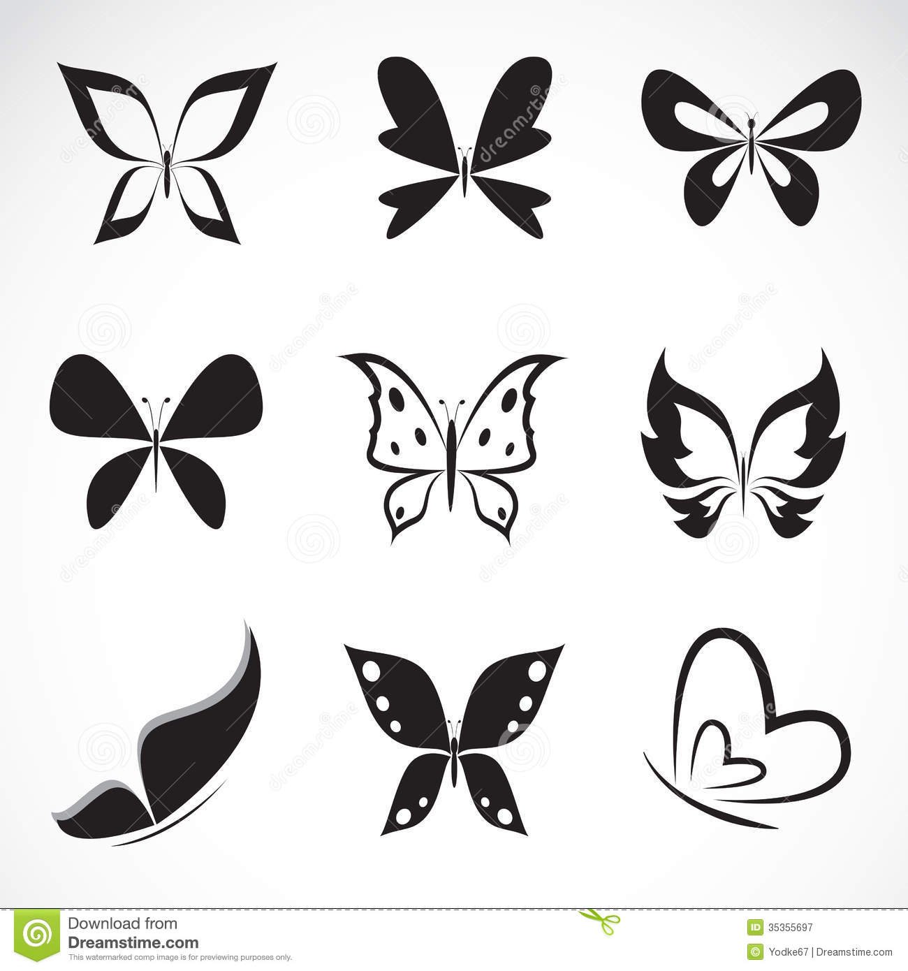 vector group of butterfly royalty free stock photography image