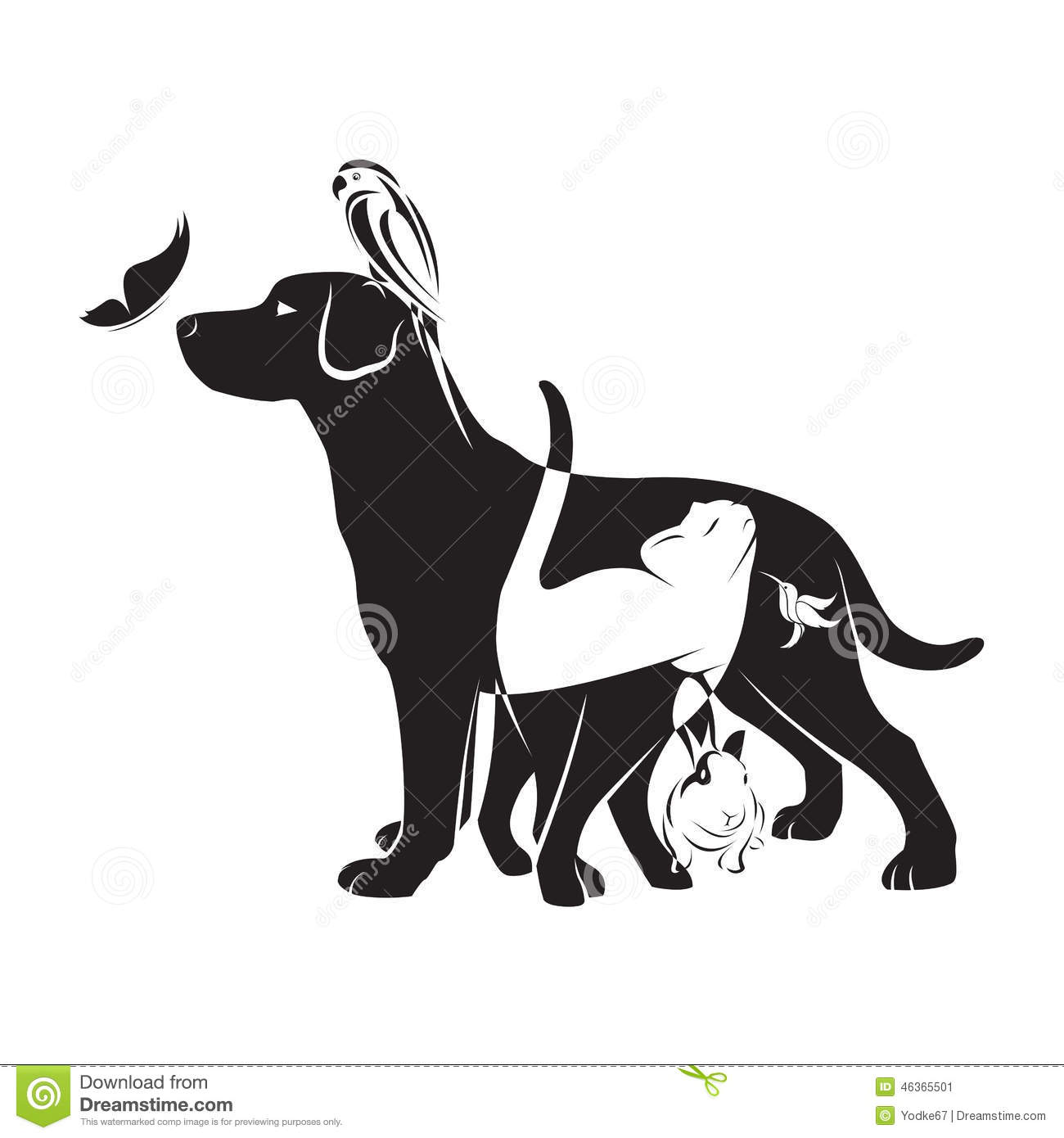 vector group of pets stock vector   image 46365501