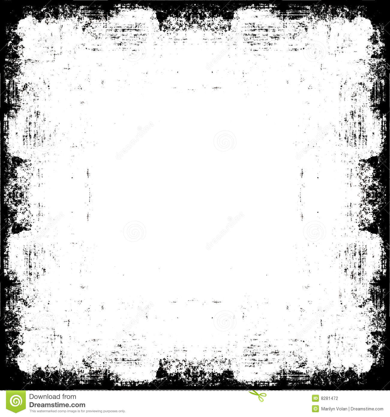 Vector Grunge Border Frame Illustration 8281472